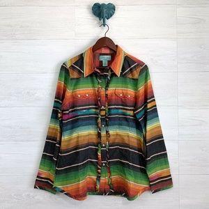 Tasha Polizzi Collection Western Pearl Snap Shirt